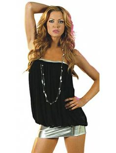 Sexy and Elegant, Pillow mini dress- with Silver High Lights| Club Dresses | Clubwear | StringsAndMe