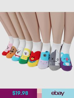 Women's Socks & Hosiery Imported From Abroad Fashion Cartoon Character Cute Short Socks Women Harajuku Cute Patterend Ankle Socks Hipster Skatebord Ankle Funny Socks Female Be Friendly In Use