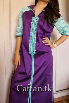Djellaba femme haute couture mauve: