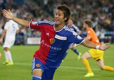 Blick online am 09.08.2014 FCB-Matchwinner: Der Japaner Yoichiro Kakitani kommt von der Bank und schiesst gleich das entscheidende 3:1 gegen den FCZ. (Foto by giuse)