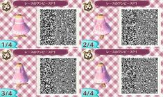 Simple pink dress. Qr codes.