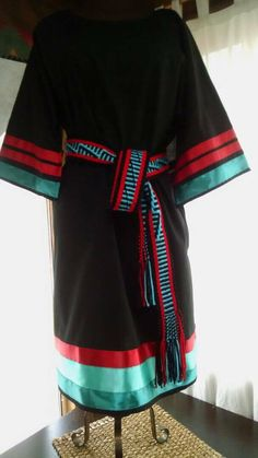 Items similar to Native American STYLE powwow Women's southern cloth includes handwoven sash, and matching leggins . Size M, L, XL, on Etsy Native American Clothing, Native American Fashion, Native Fashion, American Art, Native Style, Native Art, Ribbon Skirts, T Dress, Pow Wow