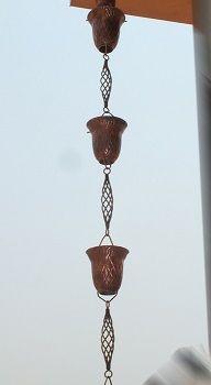 Pineapple Cup Rain Chains Rain Gutter Chain, Copper Rain Chain Downspout for Sale