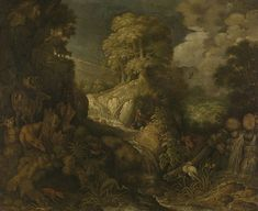 Elijah fed by the ravens. 1634 | Roelant Savery | oil painting  #landscapes