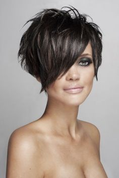 Pixie Bob Hairstyles Awesome 100 Funky Short Pixie Haircut with Long Bangs Ideas - Today Pin Pixie Bob Hairstyles, Short Pixie Haircuts, Fringe Hairstyles, Cool Hairstyles, Hairstyle Ideas, Hairstyles 2016, Black Hairstyles, Short Funky Hairstyles, Textured Hairstyles