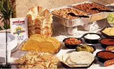 taco bar ideas   Montar una barra buffet cuando estás organizando La Celebración de ...