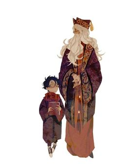 Harry Potter and Professor Dumbledore Fanart Harry Potter, Mundo Harry Potter, Harry Potter Characters, Harry Potter Love, Harry Potter Universal, Harry Potter Fandom, Harry Potter World, Albus Dumbledore, Witches