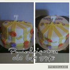 Roses and butterfly cake