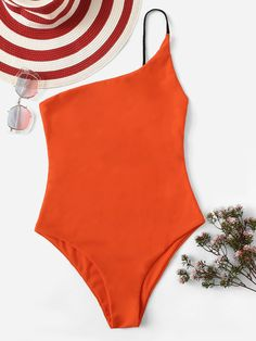 Shop One Shoulder One Piece Swimsuit online. SHEIN offers One Shoulder One Piece Swimsuit & more to fit your fashionable needs. Bikini Swimwear, Bikini Set, Swimsuits, Bikini Outfits, Bra Types, Halter Tops, Beachwear For Women, Monokini, Hipsters
