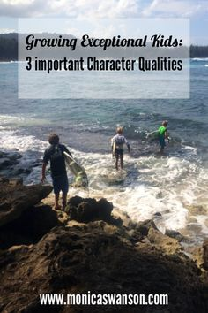 Character qualities:  Growing exceptional kids, at www.monicaswanson.com