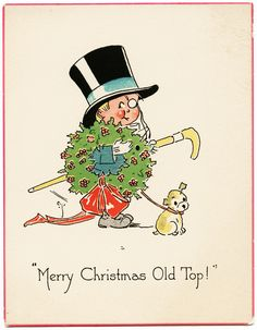Vintage Merry Christmas Images | Free Digital Vintage Card ~ Merry Christmas Old Top | Old Design Shop ...