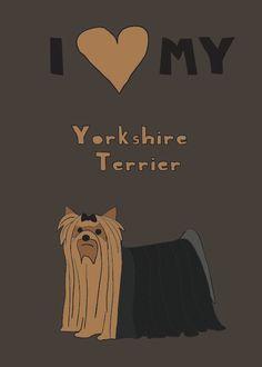 Items similar to Yorkshire Terrier, 5x7 print on Etsy. , via Etsy.
