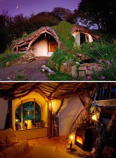 HOBBIT HOLE. This is just too cool! Would be an amazing playhouse or gardening shed in the future :)