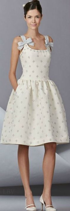 white dress @roressclothes closet ideas women fashion outfit clothing style Carolina Herrera Spring 2014 | LBV ♥✤:
