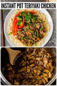 Healthy Instant Pot Teriyaki Chicken from scratch! Use fresh or frozen chicken thighs or breasts and serve with rice or cauliflower rice for a low carb version. This easy pressure cooker recipe tastes like your favorite stir fry but is so much better for you. #wellplated #instantpot #pressurecooker #healthy via @wellplated