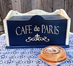 Breadbox Vintage Paris Country Chic by TerrysVintageFinds on Etsy, $24.99