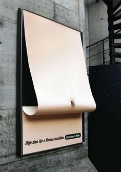 Publicité - Creative street marketing campaign - Sportplausch Wider: High time for a fitness machine Creative Advertising, Guerrilla Advertising, Ads Creative, Advertising Poster, Advertising Campaign, Advertising Design, Marketing And Advertising, Marketing Ideas, Email Marketing
