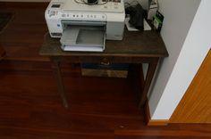 small rustic desk