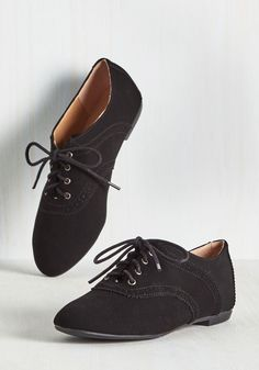 b4aabac96 Academic Excellence Flat in Black. Flaunt your knowledge of fashionable  footwear by trotting between classes