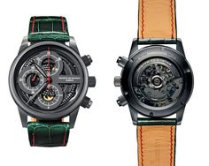 Maurice de Mauriac Zurich Watches - Front & Back of New Black Movement.http://www.mauricedemauriac.ch/home.php