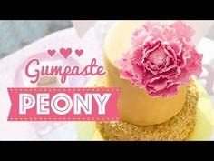 Gumpaste Peony | Blütenpaste Pfingstrose | Pivoine en pastillage