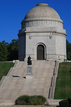The McKinley Monument is in Canton, Ohio and is the final resting place for President William McKinley, who launched his political career from Canton and was assassinated in 1901.