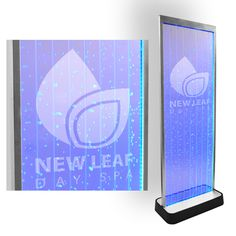 Our bubble walls may be laser etched to display a company logo, or graphic - often used in hotels, spas, salons, and restaurants.