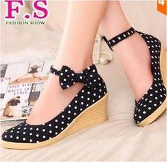 Moda Asiática Japonesa Zapatos Cute Kawaii Tacón Pulsera ...