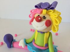 Girl Clown Fondant Cake Topper by SweetCakeBoutique on Etsy Circus Theme, Circus Party, Amusement Park Party, Fondant, Cute Clown, Round Cakes, Sweet Cakes, For Your Party, Cake Toppers