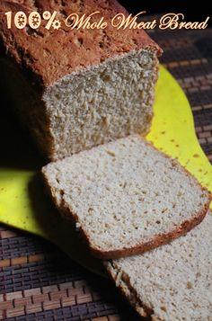 YUMMY TUMMY: Healthy Brown Bread Recipe - 100% Whole Wheat Bread Recipe