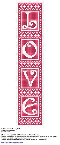 Design: Assisi Love Bookmark 1 Size: 27w x 137h Designer: Kell Smurthwaite, Kincavel Krosses Permissions: This design is copyright to Kell Smurthwaite and Kincavel Krosses You may use, copy and/or ...