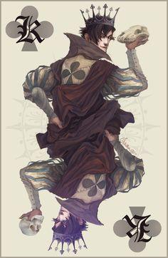 King of Clubs -colour- by Quberon.deviantart.com on @deviantART