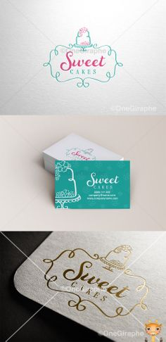 Branding for Cake, Cupcake & Bakery for sale! PRICE : $500 - Logo ( color…