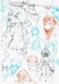 Character drawings by Raul Moreno