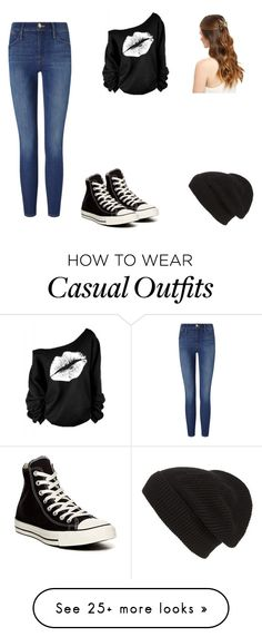 """""""Casual"""" by iluv2cre8 on Polyvore featuring Frame Denim, Converse and Phase 3"""