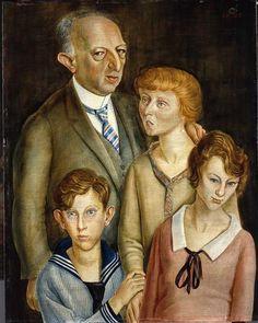 1925 Otto Dix ~ The Lawyer Dr Fritz Glasser Family Portrait