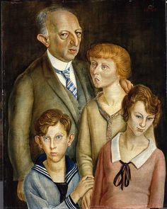 1925 Otto Dix (German artist, 1891-1969) The Lawyer Dr Fritz Glasser Family Portrait