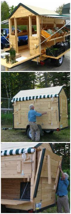 Farmers Market Portable Toilet : Roadside farm stand and recycling produce