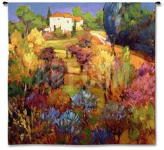 Spring Orchard Wall Tapestry by Philip Craig at Art.com