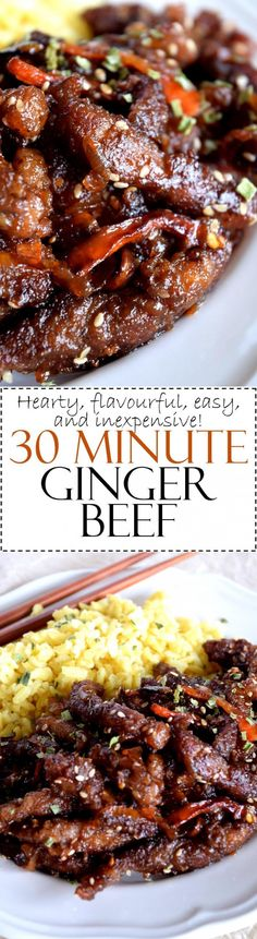 30 Minute Ginger Beef - Lord Byron's Kitchen