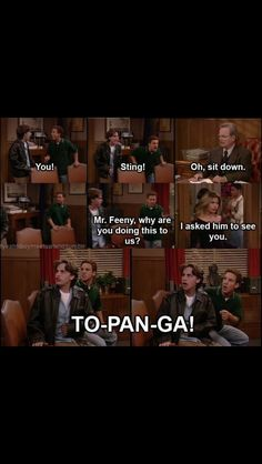 I love the reaction topanga gets whenever she walks in the room