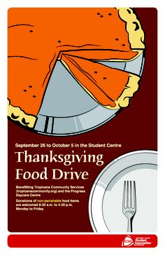 Thanksgiving Food Drive Poster Printed Materials
