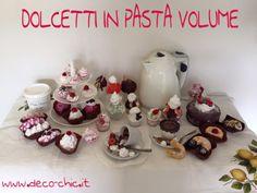 Dolcetti realizzati con PASTA VOLUME Decomania. Sembrano veri!!!! Una simpatica e golosa idea!!  www.deco-chic.it