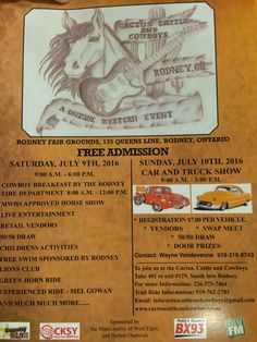Cactus cattle and Cowboys July 9 & 10, 2016