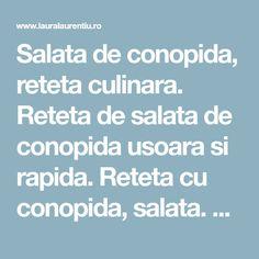 Salata de conopida, reteta culinara. Reteta de salata de conopida usoara si rapida. Reteta cu conopida, salata. Salata de conopida reteta pas cu pas. Salads