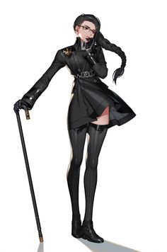 Modern Goth female character, witch character or magician, mage, steam punk Female Character Design, Character Creation, Character Design References, Character Design Inspiration, Character Concept, Character Art, Character Portraits, Character Outfits, Anime Fantasy
