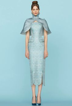Presented by Russian designer Ulyana Sergeenko at new Paris Haute Couture SS2015