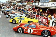 1967 Ford GT Stable at Le Mans - Photo Poster
