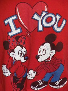 Mickey @ Minnie | Vintage 1980s Minnie and Mickey Valentine's Day Card