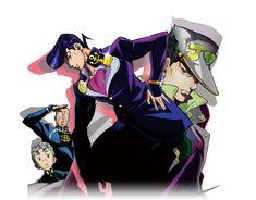 #JoJo, pt. IV: Diamond Is Unbreakable #Josuke #Jotaro #Koichi #Okuyasu